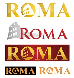 rome icon symbol isolate on white background vector image