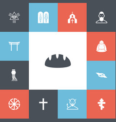 set of 13 editable religion icons includes vector image