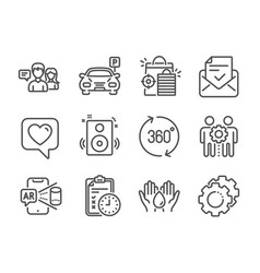 set technology icons such as speakers safe vector image