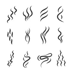 smell signs black thin line icon set vector image