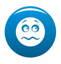 Smile icon blue vector