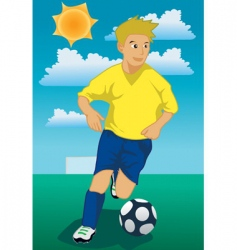 soccer run vector image