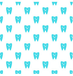 Sparkling tooth pattern seamless vector