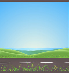 Spring or summer road with mountains background vector
