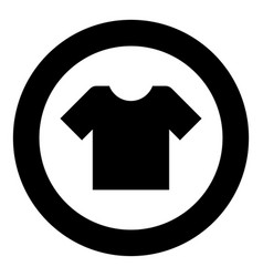 T-shirt icon black color simple image vector