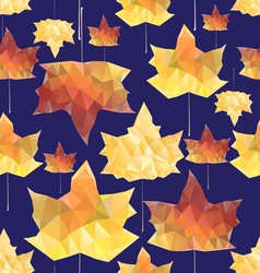 texture of autumn leaves vector image