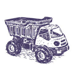 toy truck drawing vector image
