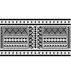 Tribal ethnic polynesian geometric seamless vector