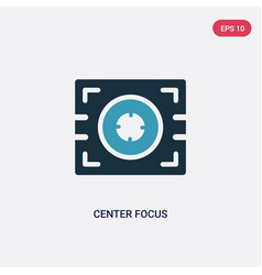 two color center focus icon from technology vector image
