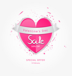 valentine day sale icon vector image