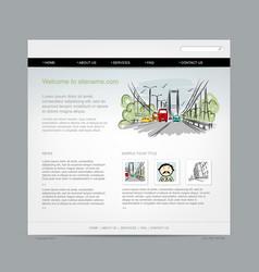 website design template cityscape vector image