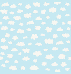 white clouds on blue sky background vector image