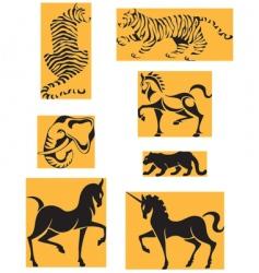 Wildlife animals vector
