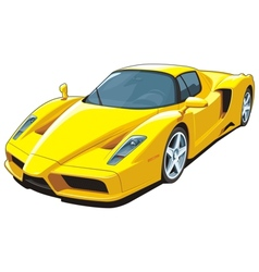 Yellow sports car vector