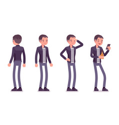 young man standing vector image