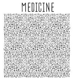Hand drawn Medicine element vector image vector image