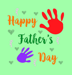 happy father day cartoon cute style vector image vector image