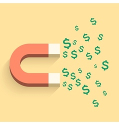 Magnet with money business vector image