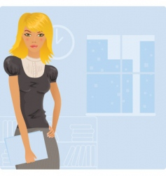 office blonde vector image vector image