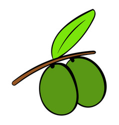 two olives icon cartoon vector image
