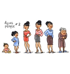 Aging people - set 2 vector image