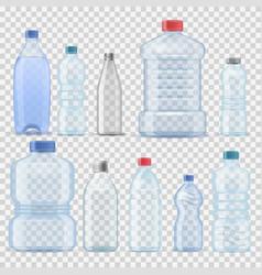 transparent water plastic clean bottle 3d vector image