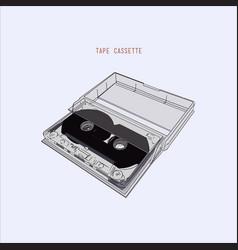 vintage audio tape cassette vector image vector image