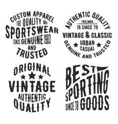 vintage stamp set vector image