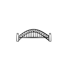 bridge hand drawn sketch icon vector image