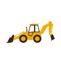 icon backhoe loader construction machinery vector image vector image