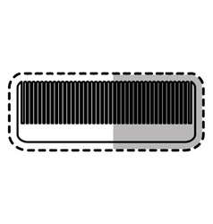 Isolated hair comb design vector image