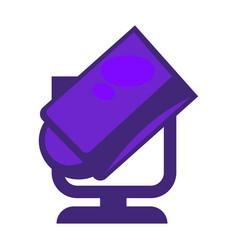 purple colored searchlight vector image
