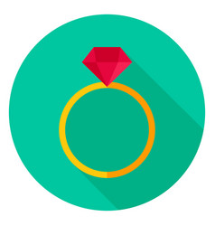 ring with diamond circle icon vector image