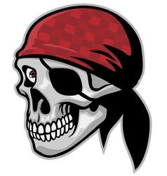 skull of pirate wearing a bandana vector image
