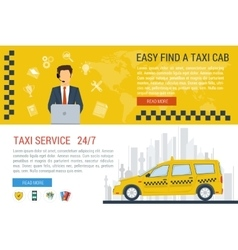 web banners of taxi service vector image