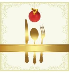 Christmas menu cover vector image