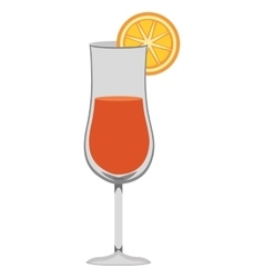 cocktail glass and orange graphic vector image
