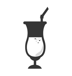 Drink glass cup vector image