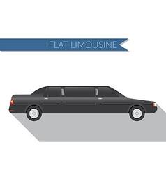 Flat design city Transportation limousine side vector image