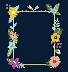 Frame with flowers Can be used as creating card vector image vector image