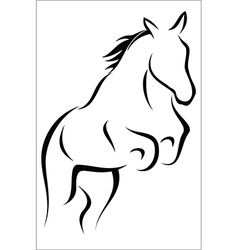 Leaping horse vector image vector image