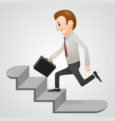 office man in a hurry vector image
