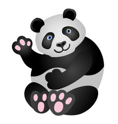 panda mascot it is sitting and smiling vector image vector image