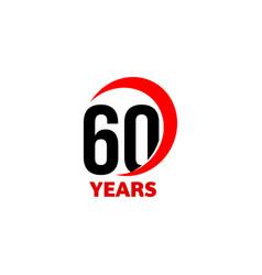 60th anniversary abstract logo sixty happy vector