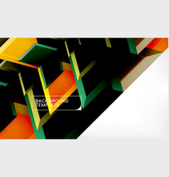 abstract glossy techno arrows background vector image
