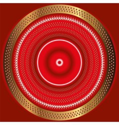 Abstract themed red background with shiny d vector