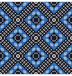 African geometric pattern in blue vector