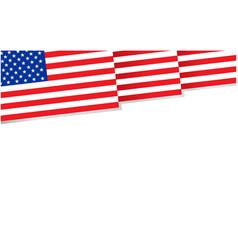 American flag decorative banner poster frame vector