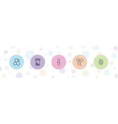 Antibiotic icons vector