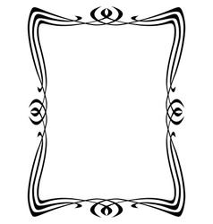 Art nouveau ornamental frame vector